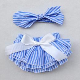 Newborn Baby Bloomers drukowane bawełniane Spodenki + Pałąk 2 sztuk/zestaw Wzburzyć bańka PP Dziewczyna Spodnie bloomers pieluch