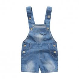 6-24 m Dla Dzieci Baby Boy Kombinezony Denim Jeans Casual Lato Ubrania Malucha Dziecko Pończoch Spodenki Baby Boy Kombinezon jea