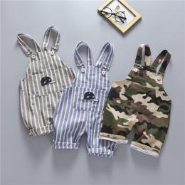 Dorywczo lato boys baby dziewczyny roupas bebe striped kamuflaż spodenki bawełniane kombinezony niemowlęta dzieci dzieci pantalo