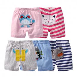 5 sztuk/partia 100% Bawełna Spodenki Dla Dzieci Newborn Baby Chłopcy Cartoon Spodnie Lato Cute Dziewczynka Majtki Bébés Niemowlę