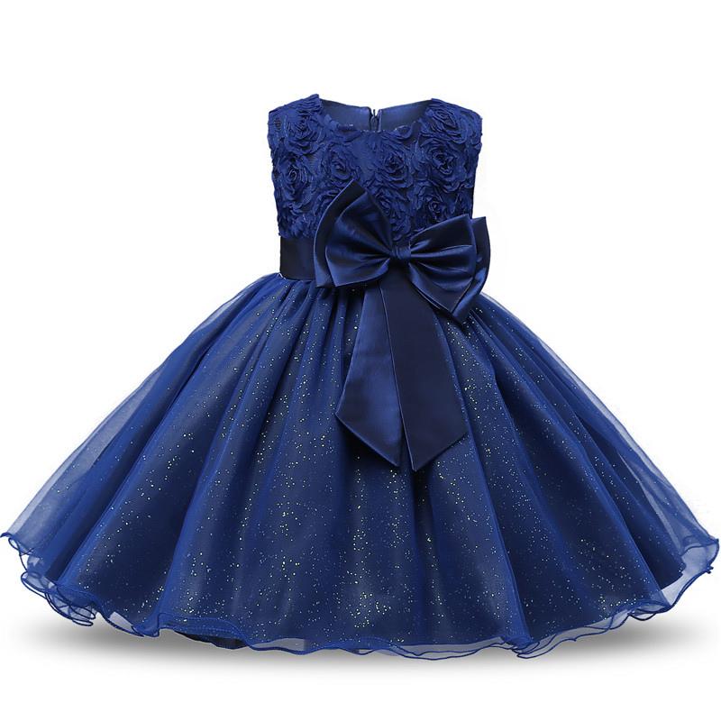Cekiny Vintage Baby Girl Dress Chrzest Chrzest Sukienki Dla