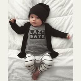 2018 Jesień Baby Boy Ubrania Dla Dzieci Zestaw Odzieży Mody Bawełny Z Długim rękawem List T-shirt + Spodnie Noworodka dziewczynk