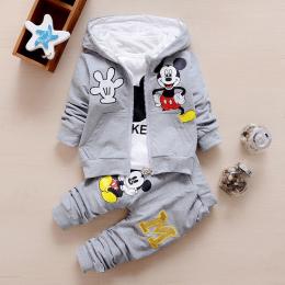Gorąca Sprzedaż 2016 Jesień Dziecko Dziewczyny Chłopcy Odzież Ustawia Śliczne Niemowląt Bawełny Garnitury Płaszcz + T Koszula +