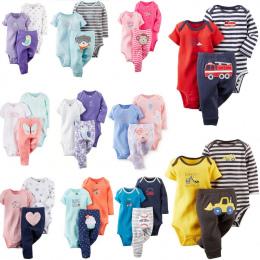 Bezpłatny statku 100% Bawełna 2018 bébés 6-24 m zestaw, baby boy ubrania, baby girl odzież, noworodka 3 sztuka ropa chłopiec