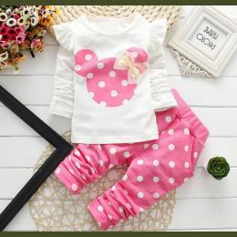 2018 Nowe ubrania dla dzieci dziewczyna dziecko długo królik rękaw bawełna Minnie casual garnitury odzież dla dzieci dzieci deta