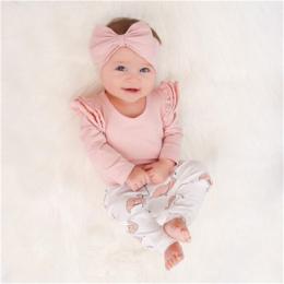 2018 Cute Dziewczynka Ubrania Malucha Dzieci Topy + Flamingo Druku Spodnie Legginsy z Pałąkiem na głowę 3 sztuk zestaw Dla Niemo