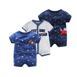 2018 Lato Krótki Rękaw Kombinezonu Dla Noworodka Romper Charakter Baby Boy Ubrania i Odzież Baby Girl 0-24 Dziecko pajacyki Lato
