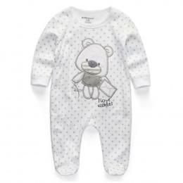 Ubrania dla dzieci 2018 New Newborn kombinezony Baby Boy Dziewczyna Romper Ubrania Z Długim Rękawem Dla Niemowląt Produkt