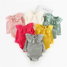 Zima Baby Girl Pajacyki Jesień Księżniczka Noworodka Ubrania Dla Dzieci Dla 0-2Y Dziewczyny Chłopcy Z Długim Rękawem Kombinezon