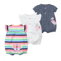Dziewczynek Pajacyki Moda Lato Z Krótkim Rękawem Dla Dzieci Odzież Maluch Roupas Ubrania Noworodka Ubrania Dla Dzieci Kombinezon