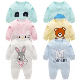 Noworodka ubrania dla dzieci 100% Bawełna Z Długim Rękawem Wiosna Jesień Baby Pajacyki Miękkie Odzież Dla Niemowląt maluch baby