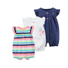 2018 orangemom baby girl odzież jedno-sztuk kombinezony dziecięce odzież, bawełniane krótkie romper niemowląt dziewczyna ubrania