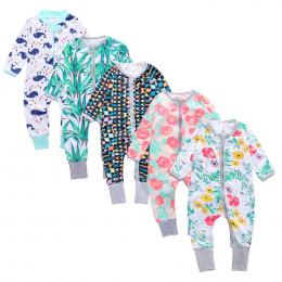 Newborn Boy Odzież dla niemowląt Małych Dzieci Z Długim Rękawem Floral Print Baby Girl dzieci Kombinezony Piżamy Dzieci Odzież D