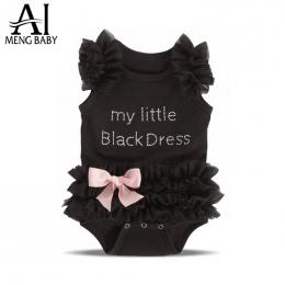 Ai Meng Dziecko Dziewczynka Czarny Romper Niemowląt Sen Piżamy Kombinezon jednoczęściowe Ubrania Dla Dzieci Noworodka Dziewczynk