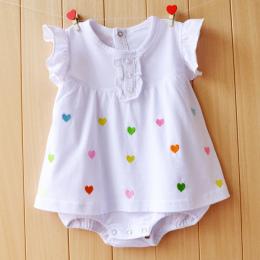 Baby Girl Pajacyki Letnie Dziewczyny Odzież Ustawia Roupas Bebes Kwiat Noworodka Ubrania Dla Dzieci Cute Baby Kombinezony Dla Ni