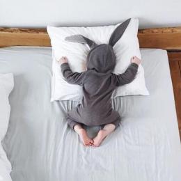 Nowa Wiosna Jesień Baby Pajacyki Cute Cartoon Królik Niemowląt Dziewczyna Boy Skoczków Dzieci Stroje Dla Dzieci Ubrania