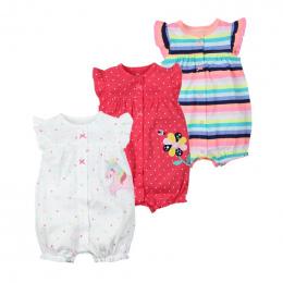 Marka 2018 Lato Śpioszki Dla Niemowląt Z Krótkim Rękawem Dla Dzieci Dziewczyny Odzież Dla Dzieci Kombinezony Newborn Baby Boy Ub