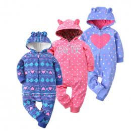 2018 wiosna kombinezon dziewczynka odzież polar romper dziecko płaszcz 12 m-24 m dla dzieci kostiumy dla chłopców ubrania, ciało