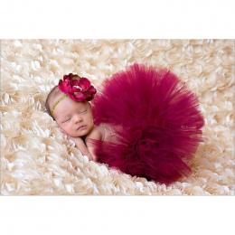 NOWY 4 Kolory Noworodka Spódnica Tutu Z Pasującymi Kwiat Pałąk Oszałamiająca Newborn Photo Prop Dziewczyna Spódnica Tutu