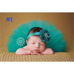 Dziewczynka Tutu Spódnica i Kwiat Pałąk Fotografia Puszyste Spódnica Noworodka Księżniczka Christmas Spódnica 0-6 Miesięcy Dziec