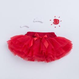 Nowe Dziecko Dziewczyny Wzburzyć Gafa TuTu Spódnica Suknia Balowa Rose Red Fuffy Pettiskirt Dziecko 6 Warstwy Tiulu Dzieci Odzie