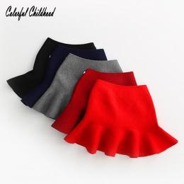 Adorable Baby Dziewczyny Spódnica Dzieci knited ruffles cozy Pettiskirt Tutu Spódnice dla dzieci Party Ślubne ubrania Xmas preze