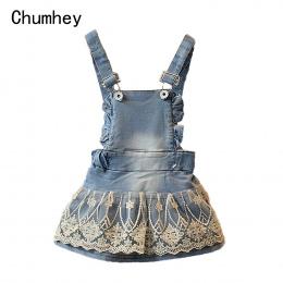 Chumhey Lato Dziewczynek Odzież Dla Dzieci Kombinezony Koronki Denim Pończoch Bib Spódnice Śliczne Kawaii Maluch Paski Spódnica