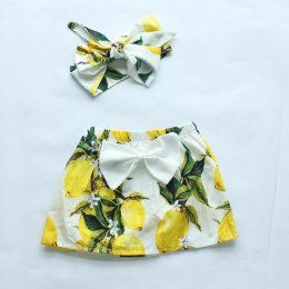 Dziecko dziewczyny ubrania 2016 w nowym stylu baby girl drukowania dziewczyny spódnica dopasowane spódnice floral owoce łuk pałą
