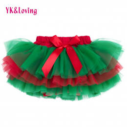 Dziewczynek Wzburzyć Spódnica Boże Narodzenie Zielony i Czerwony Dół Tutu Spódnice Pieluchy Dziecięce majtki Pettiskirt newborn