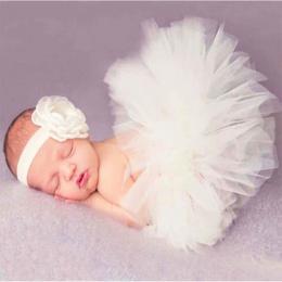 Zestaw Dla Niemowląt Fotografia Rekwizyty Newborn Baby Dziewczyny Ubrania Spódnica Tutu Spódnica + Pałąk Ustawić Odzież BM88