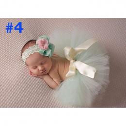 NOWA Księżniczka Dziecko Tutu z Pasującymi Kwiat Pałąk Ustaw Newborn Fotografia Rekwizyty Dziewczynka dziecko Tutu tulle Spódnic