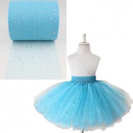 """2016 nowych cekiny tulle rolka turquoise cekiny tulle rolka 6 """"X100yards niebieski glitter tutu spódnica dla dziewczyn party dek"""