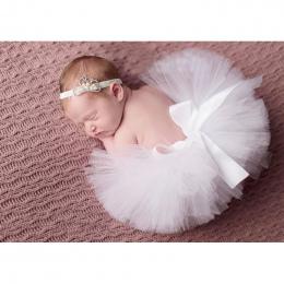 2018 NOWE Dziecko Tutu Newborn Fotograficzne Rekwizyty Słodkie Pink Dziewczynka Tutu Spódnica z Szydełka Pałąk Urodzinowe Tutu T
