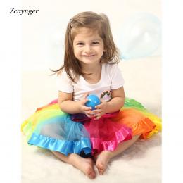 Dziewczynek Tęczy Spódnica Odzież dla Niemowląt Tutu Spódnica Dla Dzieci 0-2 Lat Dziewczyny Spódnice Tiulowe Dziewczyna Plisowan