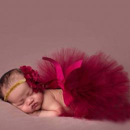 NOWA Księżniczka Newborn Tutu i Dopasowanie Kwiat Pałąk Dziecko Fotografia Prop Spódnica Urodziny Zestawy Dla Dziewczynek TT004-