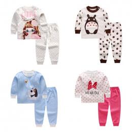 3-24 m dziecko bielizna nocna zestaw piżamy dla dzieci piżamy dla dzieci chłopcy dziewczęta zwierząt piżamy pijamas bawełniana b
