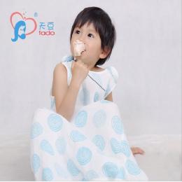 Muślin Bawełna Dzieci Dziecko Śpiwór 0-4Years Dziecko Śpiwór Bez Rękawów Sleepware dzieciaka Sleepsack Bielizna Nocna Dla Dzieci