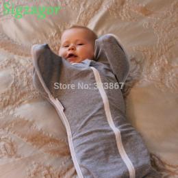 [Sigzagor] 1 Dziecko Sleepsack Zip Up Przewijać Dziecko Śpiwór Bawełna 3 kg-14 kg 4 Rozmiar Szary różowy Niebieski Biały