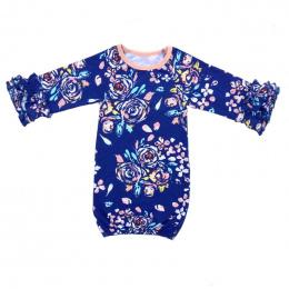 Nowa Torba Noworodka Śpiące Dziecko Sen Suknia Dzieci Dziewczyny Wzburzyć Z Długim Rękawem złota Koszule Nocne Piżamy Dla Dzieci