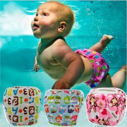 Ohbabyka Dziecko Pływać Pieluchy Wodoodporna Regulowany Cloth Pieluchy Basen Pant Pływanie Pokrywę Pieluchy Wielokrotnego Użytku