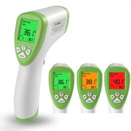 Cyfrowy Termometr Czoło bezdotykowy termometr na Podczerwień Termometr Na Podczerwień Dziecko Dorosłych Z LCD Backlight Bestsell