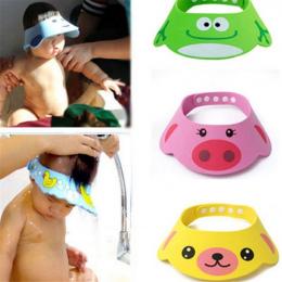 Regulowany Baby Shower Kapelusz Maluch Dzieci Szampon Kąpiel Prysznic Cap Mycia Włosów Tarcza Bezpośrednie Daszek Czapki dla Dzi