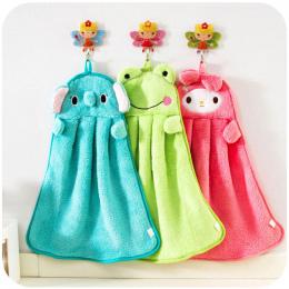 Dziecko Przedszkole Ręcznie Ręcznik dziecko ręczniki Malucha Miękkie Pluszowe Kreskówka Wytrzeć Wiszące Ręcznik Kąpielowy Dla Dz