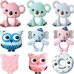 13 kolory Silikonowe Gryzaki Zwierząt Koala Słoń Sowa Dziecko Pierścień Gryzak Silikonowy Chew Charms Dziecka Ząbkowanie Prezent