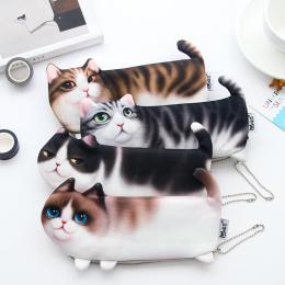 2018 NOWY Kawaii Nowość Symulacja Kot Kreskówka Piórnik Miękką szmatką Szkoła Biurowe Pen Torba Prezent dla Dziewczyny Chłopiec