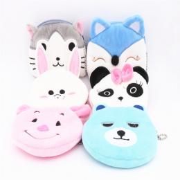 Luksusowe jakości różne kolory Cartoon zwierząt znaków portmonetki dzieci kiesy pluszowe monety etui Ołówek Bag
