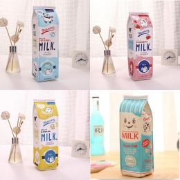 Cartoon Mleko butelka szkoła piórnik słodkie PU pióro torba storage pouch Korea Piśmienne materiał biuro szkolne escolar