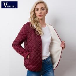Jesień 2018 Nowe Parki podstawowe kurtki Kobiece Kobiety Zimowych oraz aksamitna lamb Płaszcze z kapturem Bawełny Kurtka Zimowa