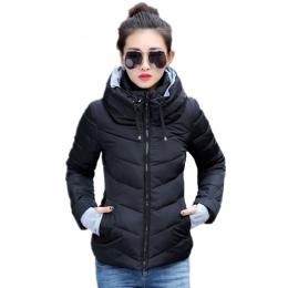 2018 nowa moda damska kurtka zimowa płaszcz kobiet outerwear krótki watowe kurtka kobiet wyściełane parka płaszcz damski