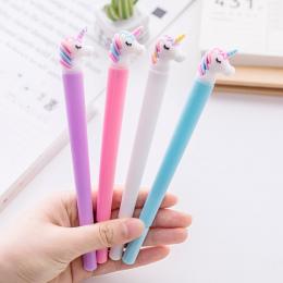 0.5mm Kreatywny Jednorożec Flamingi Żel Długopis Pióro Podpis Escolar Szkolne Materiały Biurowe Papelaria Dostaw Upominek promoc